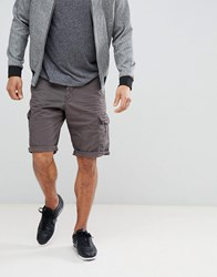 Esprit Relaxed Fit Cargo Shorts In Grey