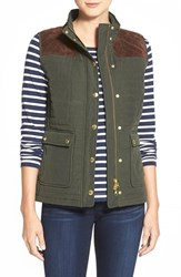 Women's Vineyard Vines Suede Yoke Quilted Vest