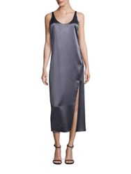 Diane Von Furstenberg Lyla Midi Slip Dress Rock