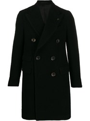 Gabriele Pasini Double Breasted Coat Black