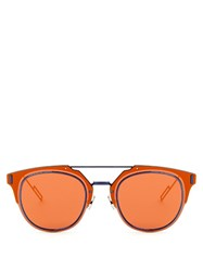 Christian Dior Composit 1.0 Pantos Style Sunglasses Orange Multi