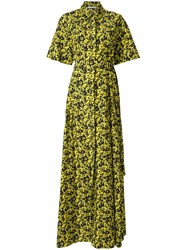 Camilla And Marc Monet Maxi Shirt Dress Yellow