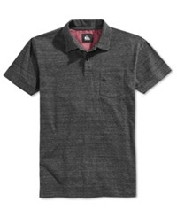 Quiksilver Men's Martini Heathered Polo Black