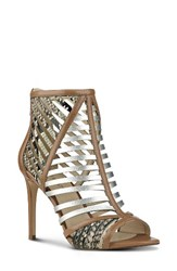 Nine West Women's Jorine Sandal Dark Natural Multi Leather