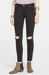 Women's Free People Destroyed Jeans Black
