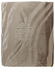 Roberto Cavalli Macro Zebrage Velvet Throw Brown