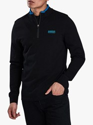 Barbour International Bleaser Half Zip Sweatshirt Black