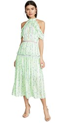 Glamorous Apple Linear Floral Crepe Dress Apple Floral