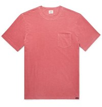 Faherty Slim Fit Garment Dyed Slub Cotton Jersey T Shirt Red