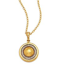 Gurhan Celestial Diamond And 24K 22K 18K Gold Pave Pendant Necklace