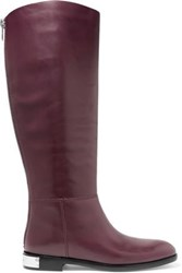 Marc By Marc Jacobs Kip Leather Knee Boots Burgundy