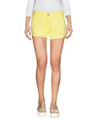 Fornarina Denim Shorts Yellow