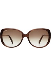 Tod's Tods To0113 Oversize Sunglasses Brown