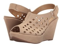 Vaneli Elsie Hemp Soft Nabuck Women's Wedge Shoes Beige