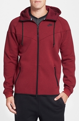 Nike Water Repellent Tech Fleece Windrunner Jacket Team Red Heather Team Red