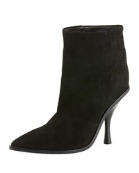 Sigerson Morrison Hong Suede Pointed Toe Boot Black
