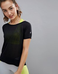 Asics Running Crop Front Tee In Black