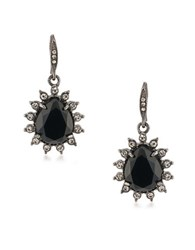 Carolee Gotham Hematite Tone Drop Earrings Black
