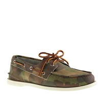 Men's Sperry Top Sider For J.Crew Authentic Original 2 Eye Boat Shoes In Camo