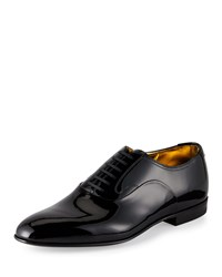 Bally Garret Patent Leather Lace Up Oxford Black Men's