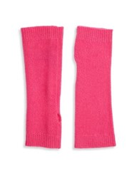 Saks Fifth Avenue Fingerless Cashmere Gloves Pink Grey Black Oatmeal
