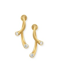18K Two Piece Earrings With Diamonds Carelle