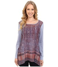 Miraclebody Jeans Kyra Keyhole Tunic W Body Shaping Inner Shell Pewter Women's Blouse