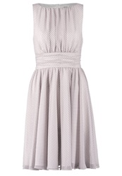 Swing Cocktail Dress Party Dress Brown White Light Brown