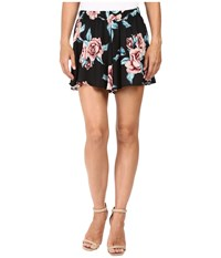 Show Me Your Mumu Carlos Swing Shorts Flower Hour Women's Shorts Black