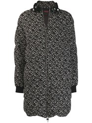 Giambattista Valli Tweed Puffer Jacket Black
