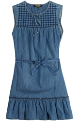 Juicy Couture Embroidered Denim Dress
