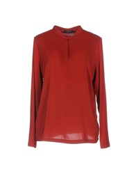 Anne Claire Anneclaire Blouses Maroon