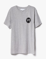 Soulland Ribbon T Shirt In Grey Melange