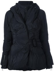 Ermanno Scervino Flared Belted Jacket Black