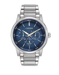 Citizen Mens Eco Drive Day And Date Watch Silver