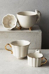 Anthropologie Time For Tea Measuring Cups White