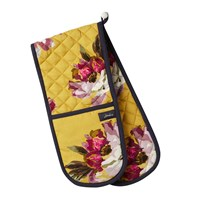 Joules Ocean Floral Oven Glove Gold