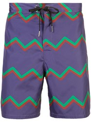 Cynthia Rowley Ziggy Board Shorts Pink And Purple