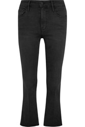 Frame Le Crop Mini Mid Rise Bootcut Jeans Anthracite