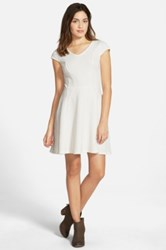 Frenchi V Neck Skater Dress Juniors White