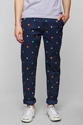 Cpo Printed Awesome Chino Pant Blue