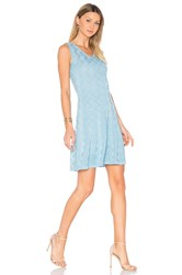 M Missoni Sleeveless V Neck Mini Dress Blue