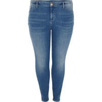 River Island Womens Plus Mid Blue Wash Molly Jeggings