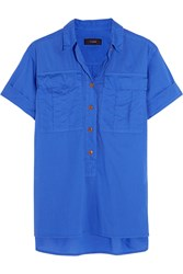 J.Crew Kennebuc Cotton Voile Shirt Blue
