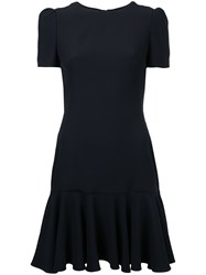 Alexander Mcqueen Structured Dress Women Acetate Viscose 40 Black