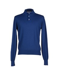 Alain Knitwear Jumpers Men Blue