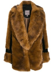 Urbancode Faux Fur Coat Brown