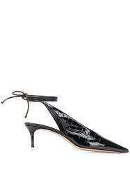 Attico Croc Effect Pumps Black