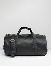 Mi Pac Tumbled Leather Look Barrel Bag In Black Black