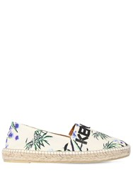 Kenzo 10Mm Printed Cotton Canvas Espadrilles Multicolor